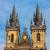 towers · kare · Prag · gökyüzü · şehir - stok fotoğraf © bloodua