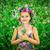 portrait of a little girl in wreath of flowers stock photo © bloodua
