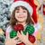 noel · ağacı · dekorasyon · kız · el · mutlu · yalıtılmış - stok fotoğraf © bloodua