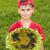 girasole · bambini · primo · piano · bella · guardando - foto d'archivio © bloodua