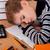 uczeń · snem · zmęczony · książek · papieru · oczy - zdjęcia stock © bloodua