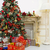 christmas tree in modern interior living room stock photo © bloodua