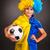 heyecanlı · futbol · fan · bayrak · spor · futbol - stok fotoğraf © bloodua