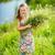 ayçiçeği · alan · portre · sevimli · kız - stok fotoğraf © bloodua