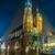 Lengyelország · Krakkó · piac · tér · éjszaka · öreg - stock fotó © bloodua