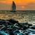 schip · zonsondergang · zeegezicht · zon · licht - stockfoto © bloodua