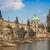 köprü · Prag · kış · şehir · kar · kilise - stok fotoğraf © bloodua