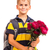 schoolboy is holding flowers back to school stock photo © bloodua