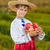 Kind · legen · Äpfel · Herbst · Park - stock foto © bloodua