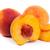 three tasty juicy peaches on a white background stock photo © bloodua