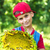 young happy boy hold sunflower in a garden stock photo © bloodua