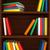 livres · blanche · tablettes · coloré · livre · bois - photo stock © blotty