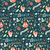 seamless pattern with winter garden flowers foxes and scarf ha stock photo © bluelela