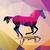 geometric polygonal horse pattern design vector illustration stock photo © bluelela