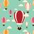 palloncini · volare · nubi · cielo · design · banner - foto d'archivio © bluelela