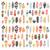 klasszikus · törzsi · kisebbségi · kézzel · rajzolt · színes · toll - stock fotó © bluelela