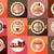 collection of vintage retro ice cream and cupcake labels stickers badges and ribbons vector illus stock photo © bluelela