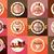 gelato · shop · etichette · set · vintage · moderno - foto d'archivio © bluelela
