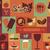 collection of flat vintage retro food icons flat design stock photo © bluelela