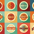 collection of vintage retro labels badges stamps and ribbons stock photo © bluelela