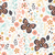 seamless pattern with flowers floral elements and butterflies stock photo © bluelela