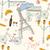 Párizs · szimbólumok · képeslap · végtelen · minta · kézzel · rajzolt · város - stock fotó © BlueLela