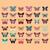 aranyos · pillangók · gyűjtemény · tavasz · pillangó · boldog - stock fotó © bluelela