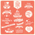 collection of valentines day vintage labels typographic design stock photo © bluelela