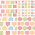 four seamless patterns with ornamental line drawings hearts sq stock photo © bluelela