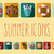 summer vacation flat icons with long shadow design elements stock photo © bluelela