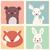 képregény · rajz · aranyos · jegesmedve · retro · képregény - stock fotó © bluelela
