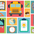 collection of school items icons flat design long shadow stock photo © bluelela