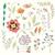 floral · vintage · dibujado · a · mano · vector · colección · establecer - foto stock © bluelela
