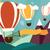 balões · montanhas · estilizado · montanha · aniversário · fundo - foto stock © bluelela
