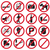 forbidden icons set stock photo © bluelela