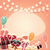 birthday background with sticker presents and balloons stock photo © bluelela