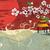 vetor · abstrato · Japão · portão · pôr · do · sol · sol - foto stock © bluelela