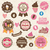 collection of vintage retro ice cream and cupcake labels sticke stock photo © bluelela