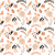 seamless pattern with rabbits lady bugs birds and flowers stock photo © bluelela