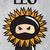 zodiac sign leo with cute black ninja character vector stock photo © bluelela