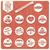 raccolta · vintage · badge · etichette · francobolli - foto d'archivio © bluelela