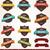 gyűjtemény · klasszikus · retro · címkék · jelvények · bélyegek - stock fotó © BlueLela