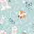 seamless merry christmas patterns with cute polar animals bears stock photo © bluelela