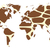 World map in animal print design, giraffe pattern, vector illust stock photo © BlueLela