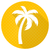 white vector palm tree round flat icon stock photo © blumer1979