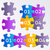colorful puzzle pieces stock photo © blumer1979