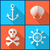 pirata · silhueta · mar · areia · crânio · navio - foto stock © blumer1979