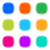 colorful halftone buttons stock photo © blumer1979