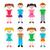группа · характер · детей · вектора · мало · мальчики - Сток-фото © blumer1979