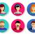 men and women avatar icons stock photo © blumer1979